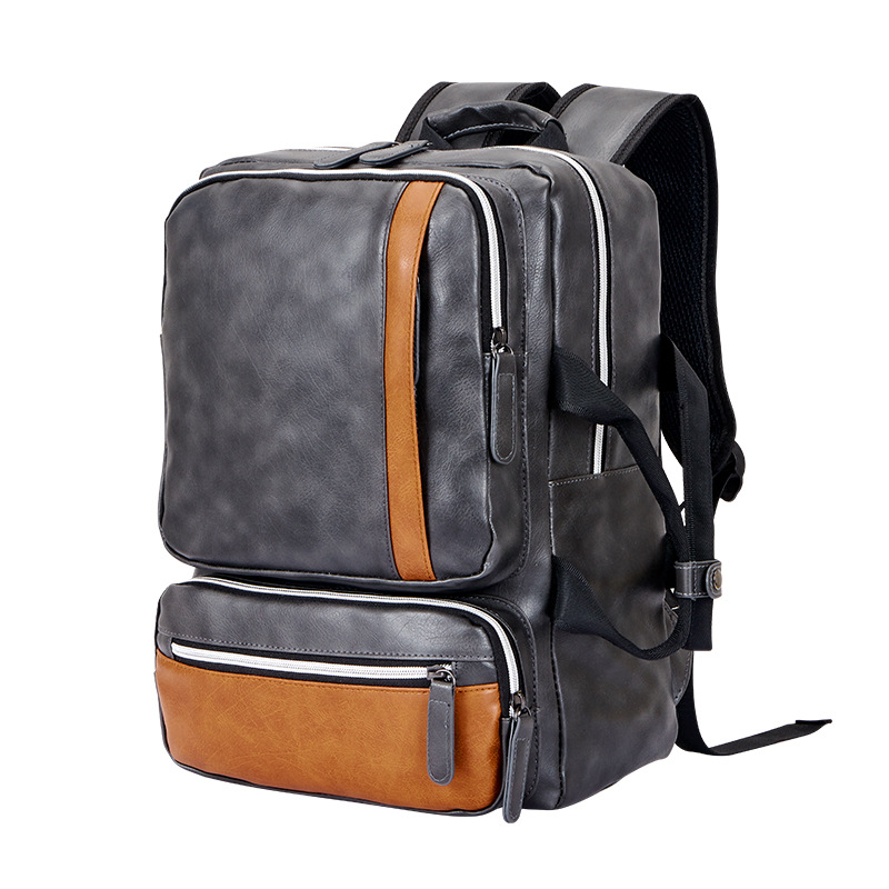 2 Kinds Use Pu Leather Backpack Men Casual Laptop Backpacks For Male Teen School Bags Big Capacity Waterproof Book Bag HAF010 new gravity falls backpack casual backpacks teenagers school bag men women s student school bags travel shoulder bag laptop bags