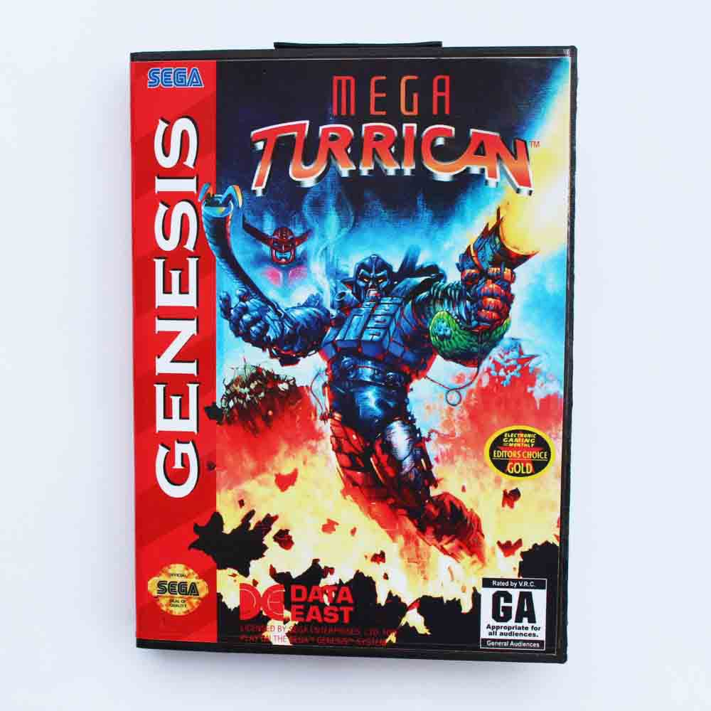 Mega Turrican  Game Cartridge 16 bit MD Game Card With Retail Box For Sega Mega Drive For Genesis
