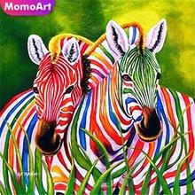 MomoArt  Diamond Painting Animal Mosaic Full Square Rhinestone DIY Embroidery Zebra Home Decoration