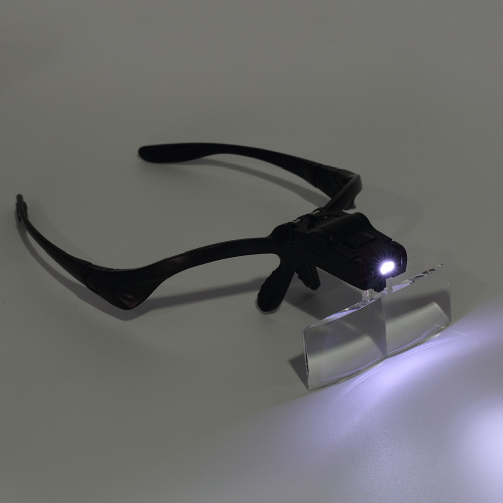 3.5X Lens Adjustable Loupe Headband Magnifying Glass Magnifier with LED Magnifying Glasses Jeweler Watch Repair Free Shipping free shipping x3 x6 card led magnifier with led light leather case magnifying glass ultra thin portable square loupe