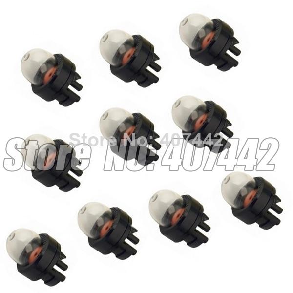 10pcs Trimmer Blower Chain Saw brush cuter y otras máquinas carburador Primer Bulbs envío gratis