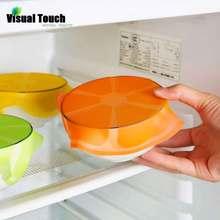 Визуальное касание Экологичная многоразовая силиконовая пищевая пленка s Бесплатные пищевые прокладки для хранения пчелиный воск обертывание стрейч-обертывание холодильник