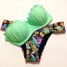 Русалка бикини Push Up Купальник Для женщин купальный костюм бюстгальтер без бретелек ванный комплект бразильские Плавки бикини комплект женский купальник, пляжная одежда