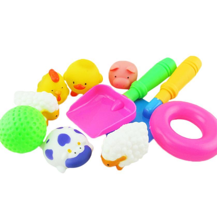 shaunyging # 4001 Baby Kids Bathing Toys Wash Play Cartoon Educational Intelligence Toys