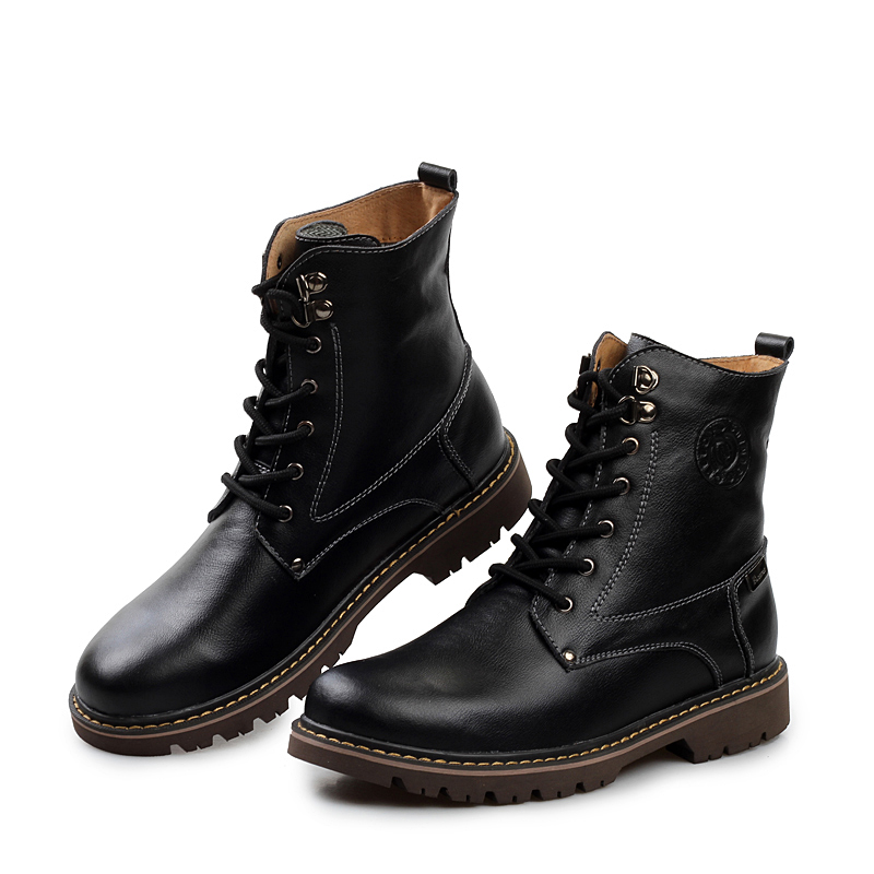 Aliexpress.com : Buy New 2015 Genuine Leather Boots Men Winter ...
