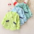 Muchachas de los bebés de la capa 0-1-2 años de edad de los niños rompevientos abrigo de las niñas doble engrosamiento el período de primavera y otoño