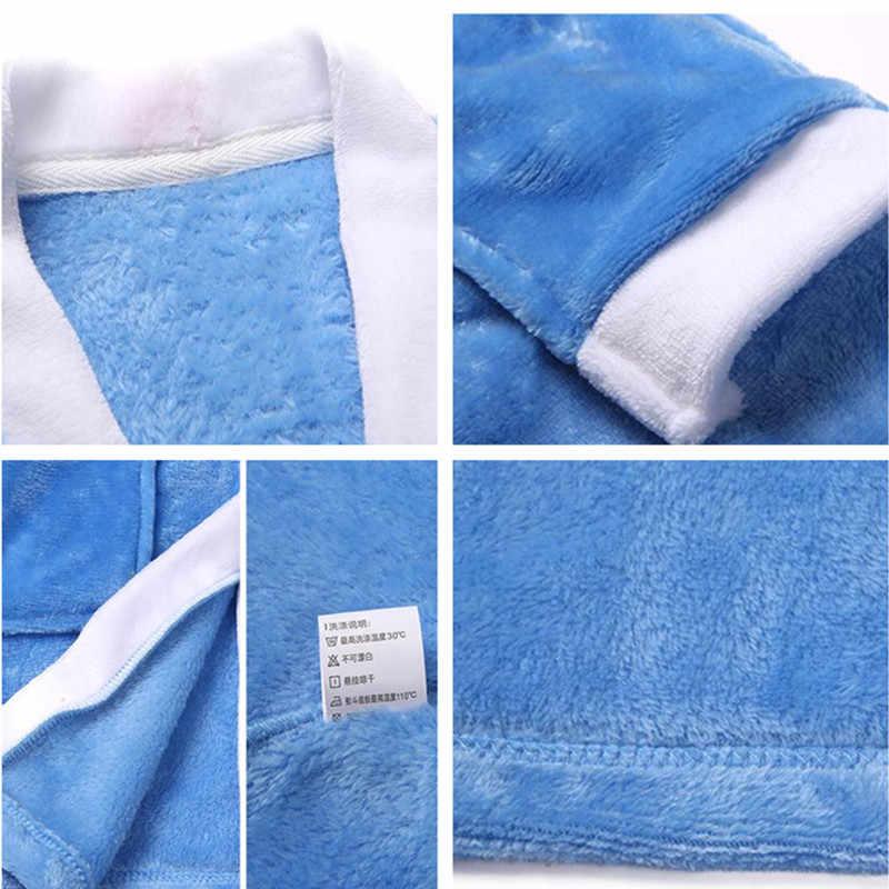 db8c08db31 ... Children Bathrobes for Boys Velvet Sleepwear Baby Robes Pajamas for Girls  Clothes Teens Striped Pijamas Kids ...