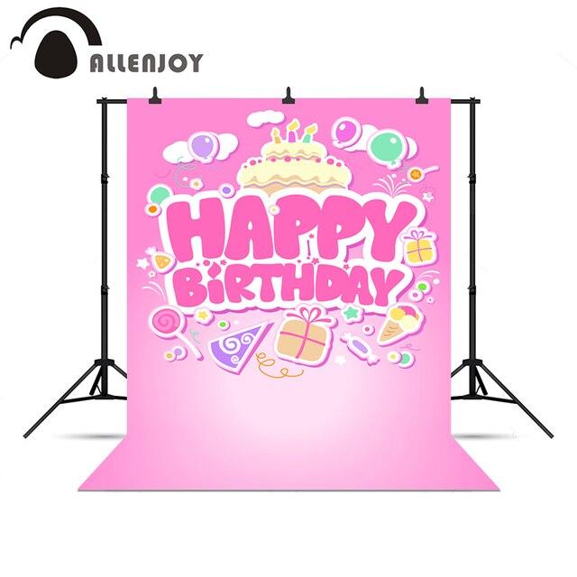 Allenjoy Foto Background Selamat Ulang Tahun Pink Lucu