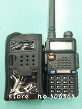 professional leather soft case holder/holster/leather sheath for baofeng UV5R two way radio walkie talkie freeshipping