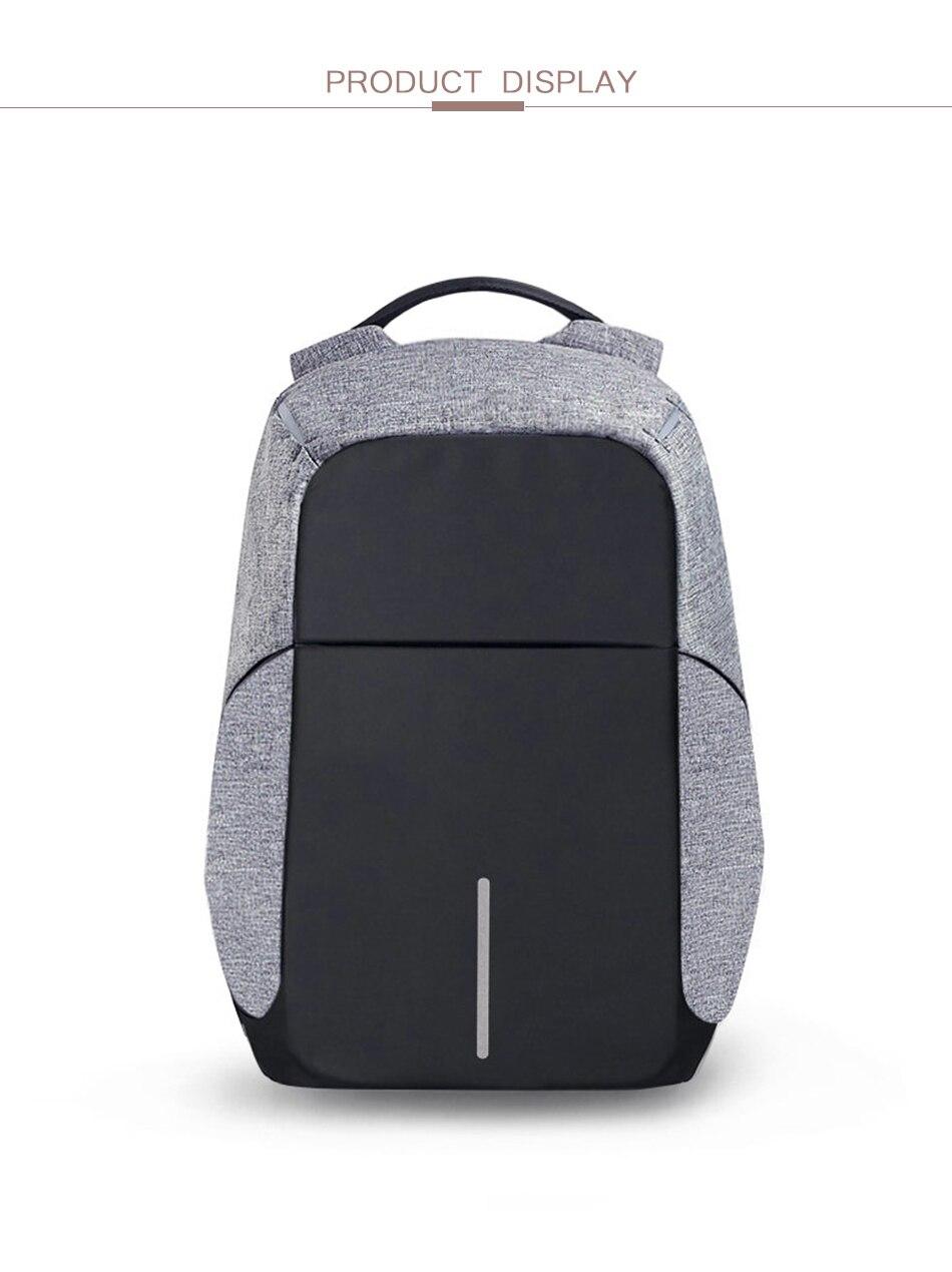 45f076d5813b LEFUR Brand Men Backpack USB Charging Notebook Laptop Bag Anti Theft ...