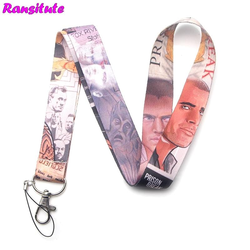 Ransitute R244 Prison Break Mobile Phone Lanyard Key ID Card Mobile Phone Belt USB Badge Holder DIY Lanyard