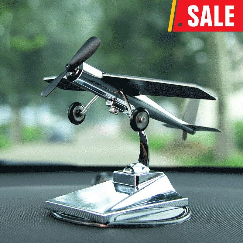DREAMCAR High Technology Aircraft Model Ornaments Propeller Rotating Solar Power 0 4W For Car Interior Decoration