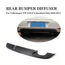 Задний диффузор из углеродного волокна, спойлер для губ, вытяжной диффузор для Volkswagen VW Golf 6 VI MK6, стандартный бампер 2010-2013