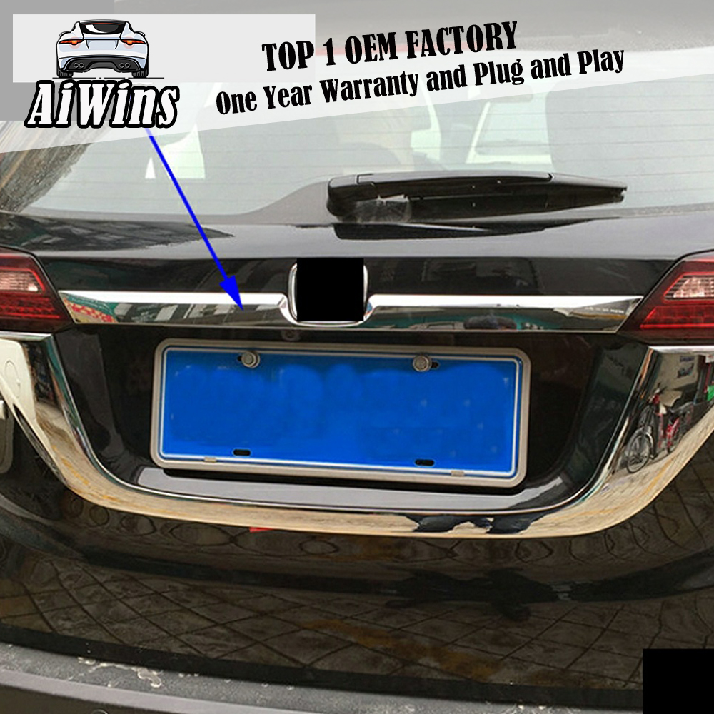 Car Styling Chrome ABS Rear Door Tail Gate Trim Cover Sticker For <font><b>Honda</b></font> <font><b>HRV</b></font> Vezel 2015 2016 Tail door Decoration <font><b>Accessories</b></font> image