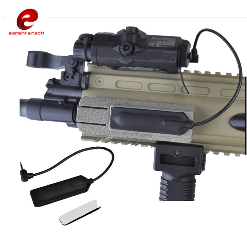 Element Airsoft Tactical Flashlight Switch Special Rat Tail Line Control Hunting Sport Weapons Element for PEQ Remote Switch