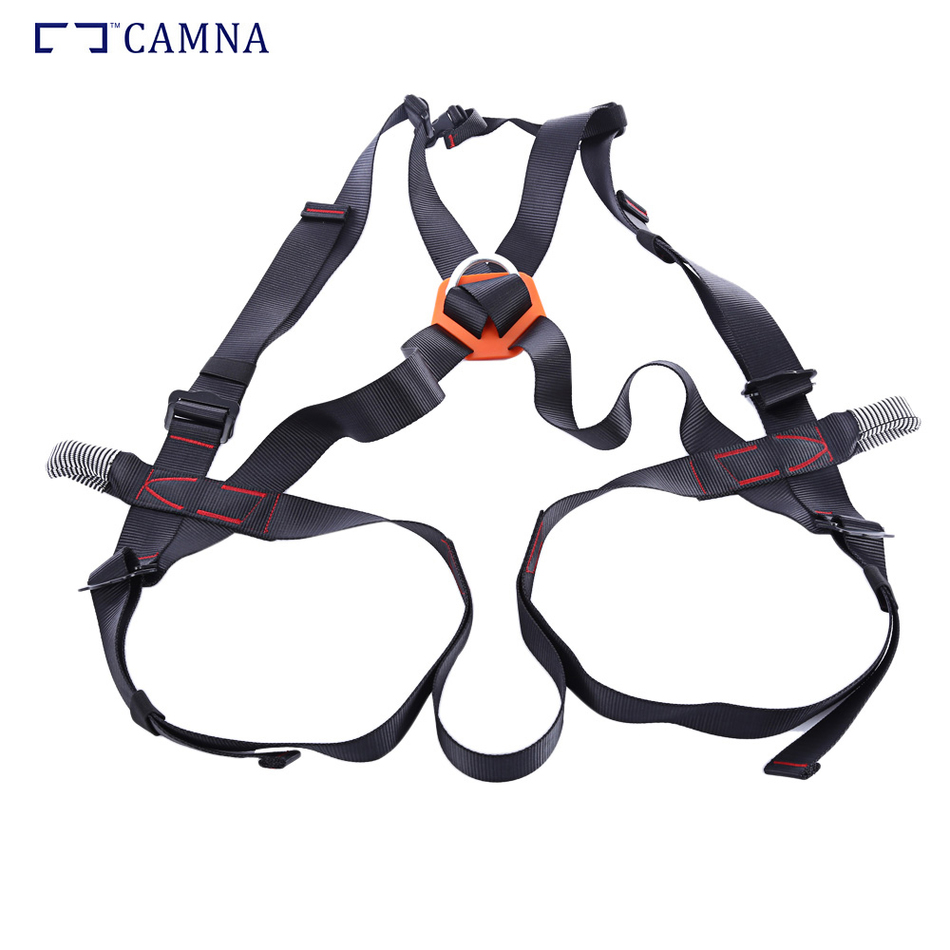CAMNA Climbing Harness Rock Caving Safety Belt Body Guard Fall Protection Secure Equipment Climbing Accessories new outdoor climbing climb mountain rope safety waist belt protection equipment workplace safety harness