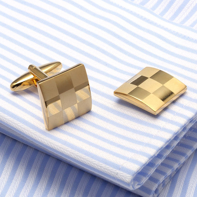 Laser Check Cuff Links Aaa French Shirt Cufflink Lawyer Gemelos Cuffs 375