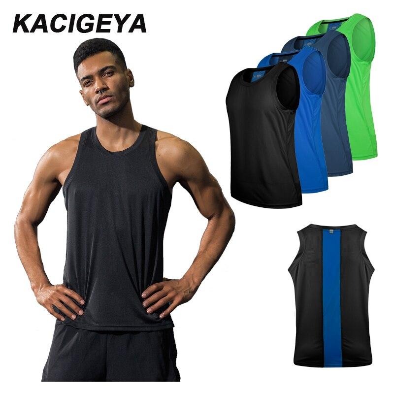 Vest Men Running Sexy Exercise Workout Sleeveless Top Sports Vest Men Top Singlet Fitness Dry Quick Men Running Yoga Tshirts