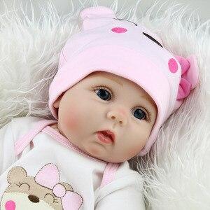 Image 4 - 16/22 אינץ סיליקון Reborn תינוק בובת 40cm בחיים Bebe Menina ממולא לשחק צעצועי Reborn בובות 55cm יום הולדת הפתעה מתנות