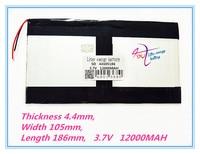 L216 3 7V 12000mAH 44105186 Polymer Lithium Ion Li Ionbattery LG For Tablet Pc ONDA