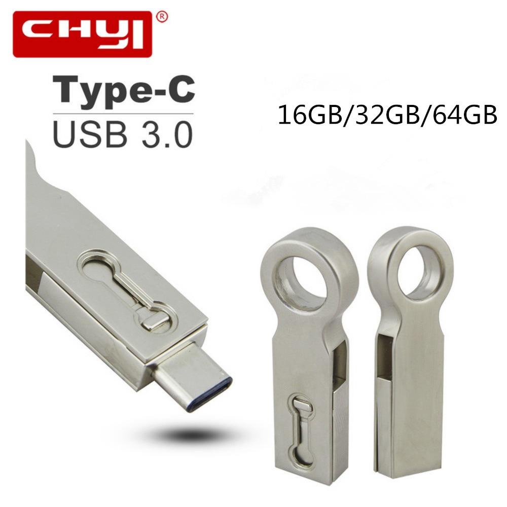 Waterproof Type-C USB 3.0 OTG Flash Drive 32GB 16GB 64GB Pen Drive Metal High Speed Type-C 3.1 Dual Plug Memory USB Stick for PC dm pd010 16gb double plug usb2 0 metal usb otg flash drive