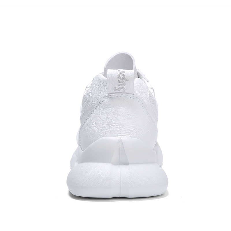 6387ee3f1e ... Summer Ultra-light Youth Trend Microfiber Plain White Sneakers  Perforated Breathable Running Shoes Men Outdoor ...