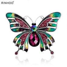 Винтажные Ювелирные изделия, большая эмалированная бабочка, броши, брошь, свадебная брошь в виде насекомого хиджаба, булавки, броши для женщин и девушек