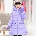 Chica chaqueta de invierno Chaquetas de down Abrigos 2016 NUEVOS calientes Niños bebé gruesa chaqueta de Plumón de pato Niños Ropa Exterior frío winter-30degree