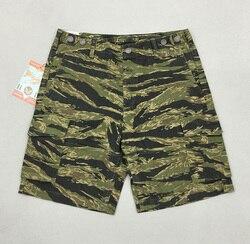 Bob degli uomini del Dong di HBT Camo Shorts Militare di Estate Strisce di Tigre Shorts Camouflage Tigre Stripepattern Più Il Formato Breve Rettilineo