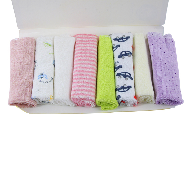 Hot Baby Kids Stuff 8pcs Soft Children Infant Bath Towel Cotton Washcloth Wipe