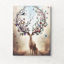 Canvas Prints Wall Art Dream Forest Elk Printing Print Pictures For Living Room Kids Unframed Deer Nordic Poster