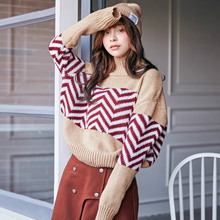 [10.17] Cricina 2015 new autumn and winter sweater set Korean head geometry downneck female
