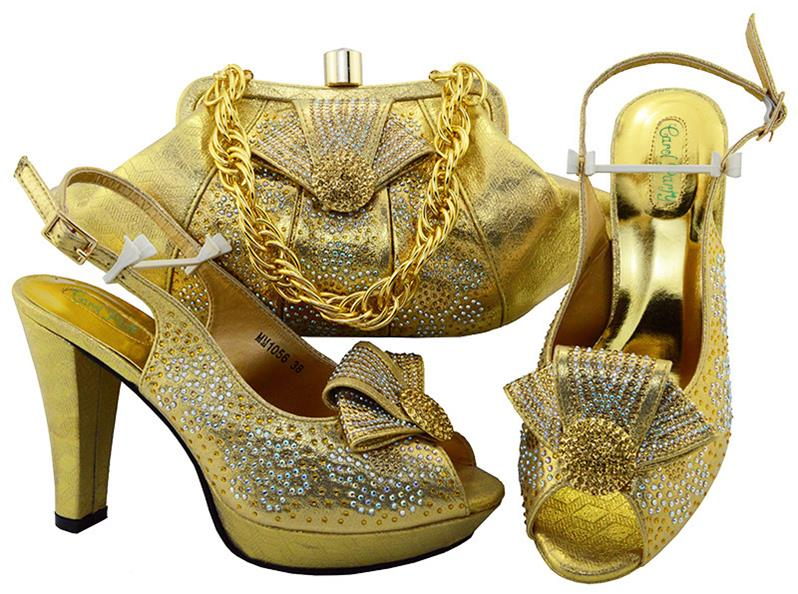 цена на Hot Color Green Fashion Party Shoes And Handbags For Combining Set Of Shoes And Purse Supper high heel MM1056