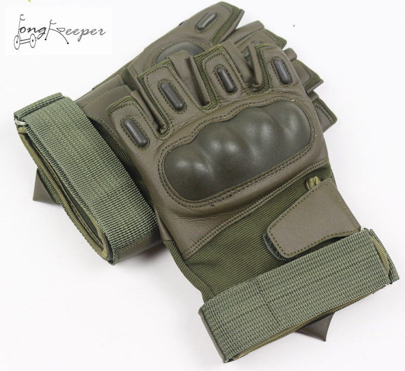 Long Keeper New Tactical <font><b>Gloves</b></font> Military Army Fighting <font><b>Gloves</b></font> Fingerless Paintball Wrestle Mitten Artificial Leather <font><b>Gloves</b></font>