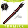 Силиконовая Резина Ремешок Для Часов 19 мм 20 мм 22 мм 24 мм для TAG Heuer Carrera Aquaracer Мужские Женские Часы Наручные ремешок Браслет Черный