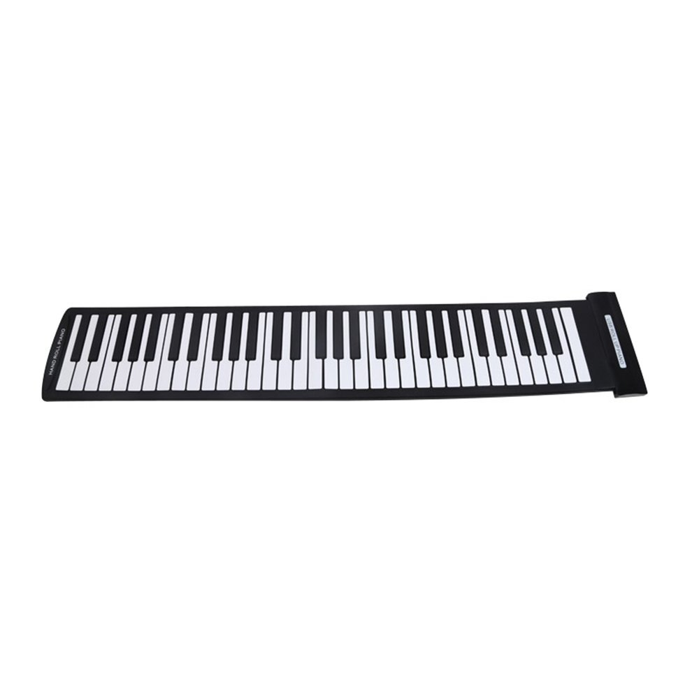 Music-S  Portable 61 Keys Flexible Roll-Up Piano USB MIDI Electronic Keyboard Hand Roll Piano puzzle multifunctional piano baby early education music hand drums intelligent piano toys