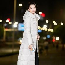 KUYOMENS más tamaño M-6XL mujeres abrigo de invierno largo Slim Thickened Turtleneck caliente Chaqueta de algodón acolchada chaqueta Outwear x-long parkas