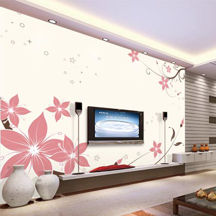 Adhesive Wall Paper aliexpress : buy flower design self adhesive wallpaper living