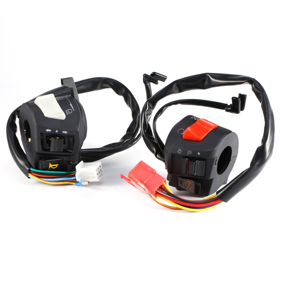 Motorcycle 7/8 Handlebar Control Switch Horn Turn Signal Headlight Electrical Start Swit ...