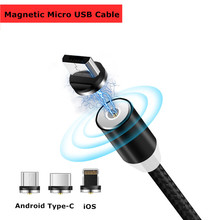 YWEWBJH 1M 2M Magnetic Charge Cable Micro USB For iPhone XR XS Max X Magnet Charger Type C LED Charging