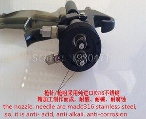 Image 5 - Two Head Chrome Spray Gun Dual Nozzle Silvering Polyurethane Foaming Mirror Chrome Paint Nano