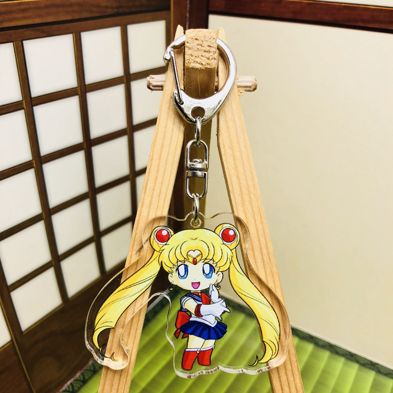 Anime sailor moon Keychain keyrings pendants cosplay Acrylic Key Chains New