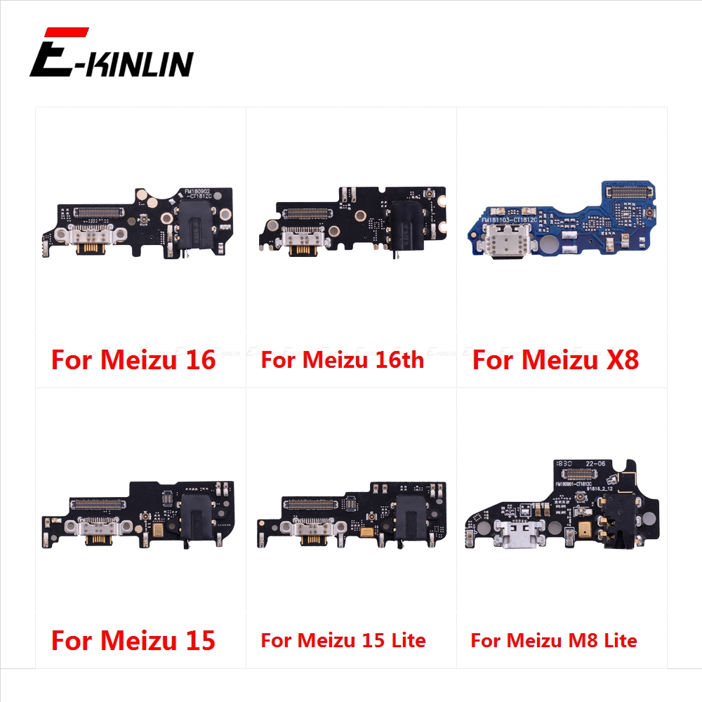Charging Port Connector Board Parts Flex Cable With Microphone Mic For Meizu 16 16th 15 Plus X8 M8 Lite