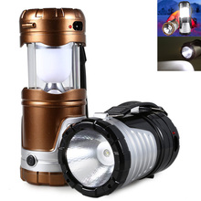 Retractable Outdoor Tent USB Solar Camping Lamp LED Lantern Light for Hiking Emergencies Lighting