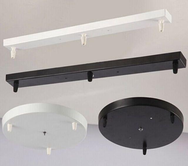 Three L&s Chandeliers Base High-grade Lighting Accessories black white Round Rectangular Ceiling base rose & Three Lamps Chandeliers Base High grade Lighting Accessories black ...