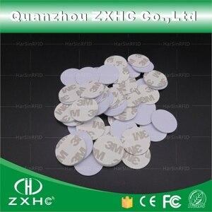 Image 3 - (10 stücke) RFID 125 KHz 25mm T5577 Aufkleber Wiederbeschreibbare Klebstoff Münze Karten Tag Für Kopie Runde Form PVC Material