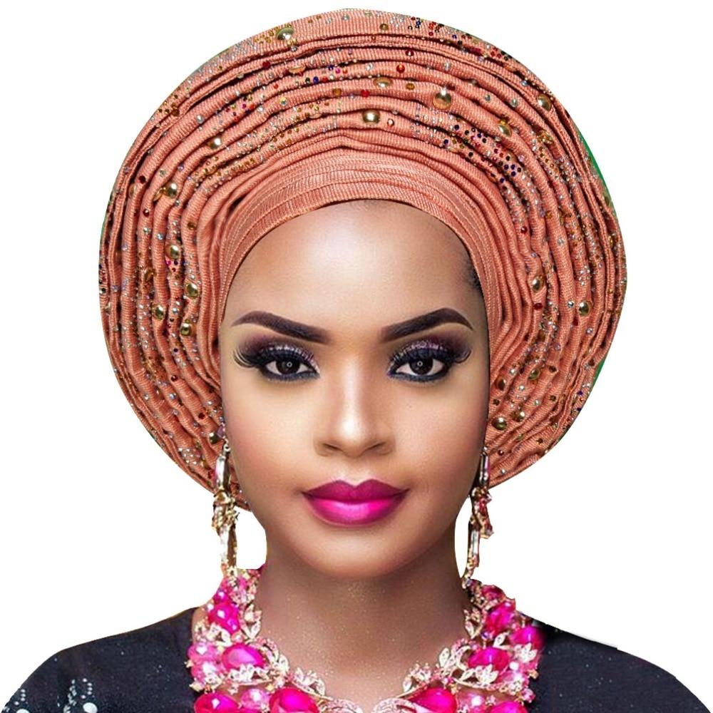 Nigerian Aso Oke Headtie African Head Wraps Gele Headtie Already Made