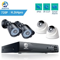 JOOAN 1080N 8CH DVR система домашней безопасности камера ИК ночного видения 4 шт. система видеонаблюдения аналоговая камера высокого разрешения циф...