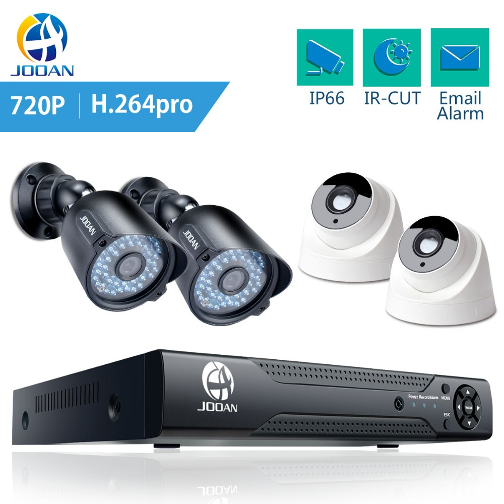 JOOAN 1080N 8CH DVR Home Security Camera System IR Night Vision 4pcs Outdoor Camera CCTV AHD DVR Vedio Recorder Surveillance Kit ahd 24ch 1080n hdmi dvr set security camera system 24pcs ahd 720p 1800tvl 3 ir outdoor night vision home surveillance camera