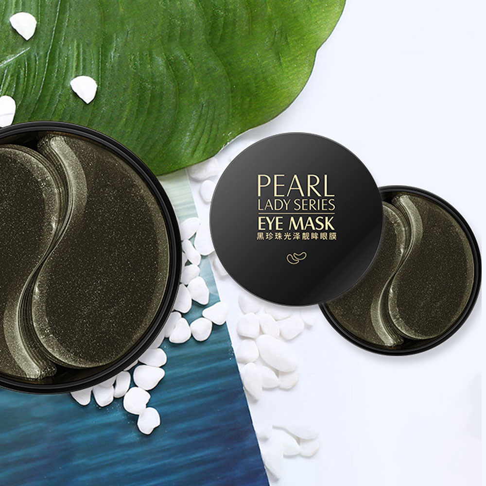 Image 2 - Black Pearl Collagen Mask Natural Moisturizing Gel Eye patches Remove Dark Circles Anti Age Bag Eye Wrinkle 60 Piece Skin Care-in Creams from Beauty & Health